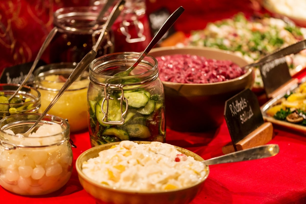 julbord food romme alpin