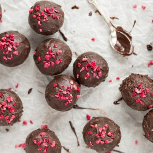 Raspberry chocolate balls