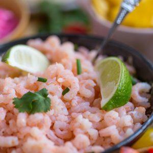 Coconut lime shrimp tacos