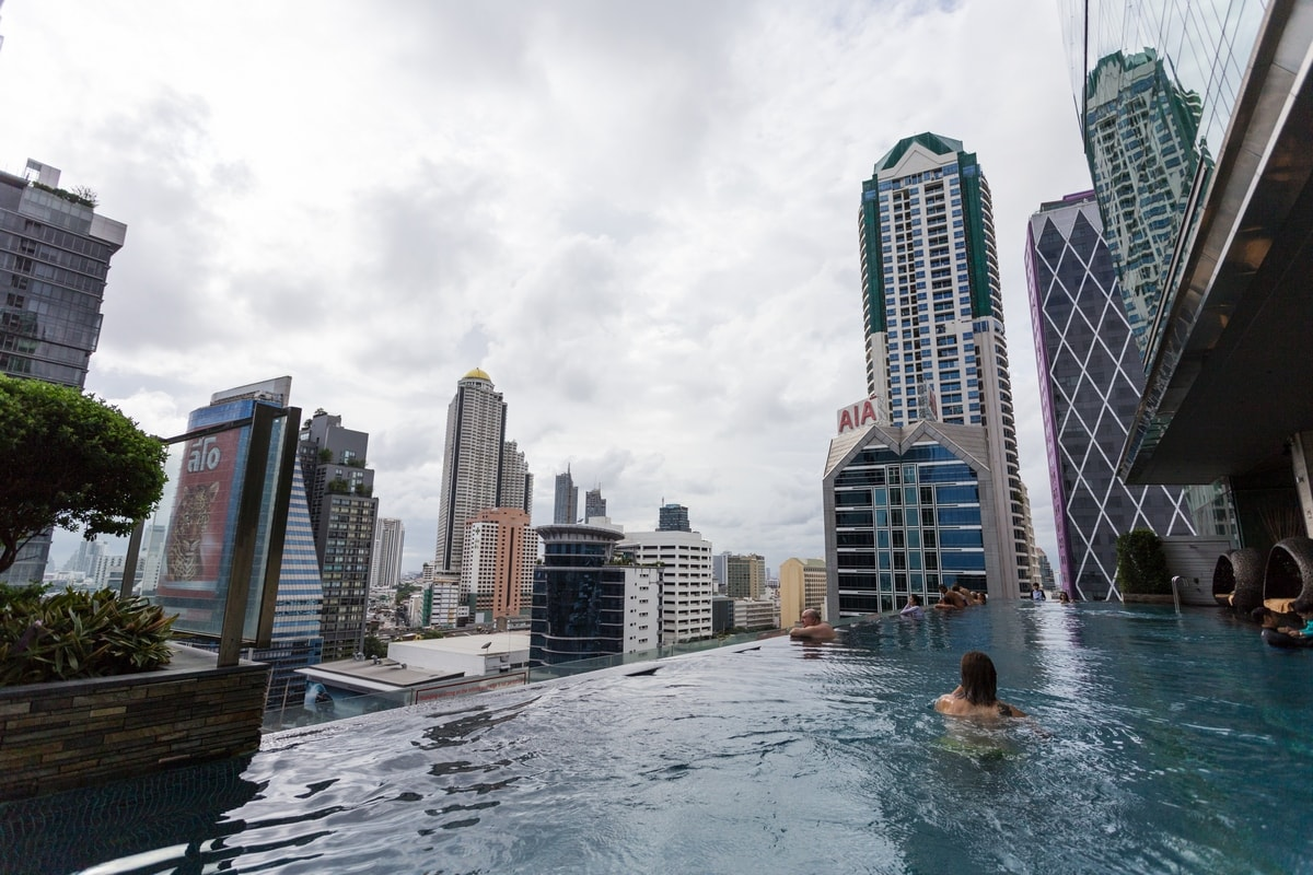 Eastin Grand Sathorn Bangkok infinity pool | Bangkok honeymoon