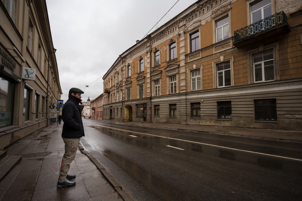 Man on the street of Vilnius