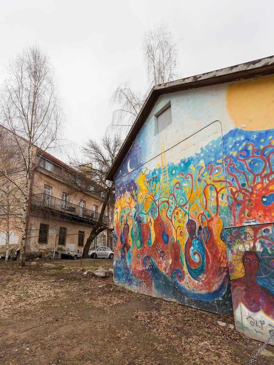 Houses in Užupis, Vilnius