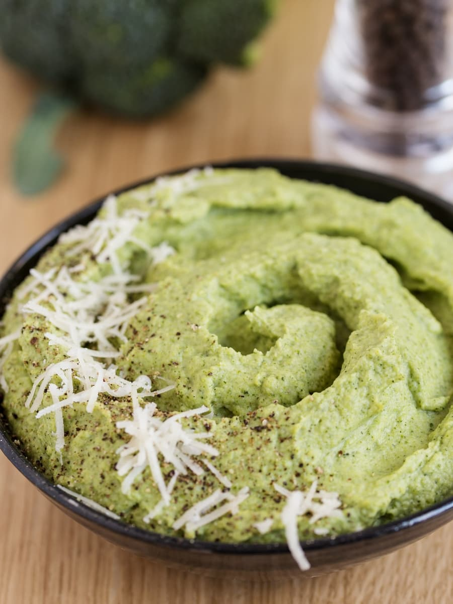Broccoli puree with parmigiano