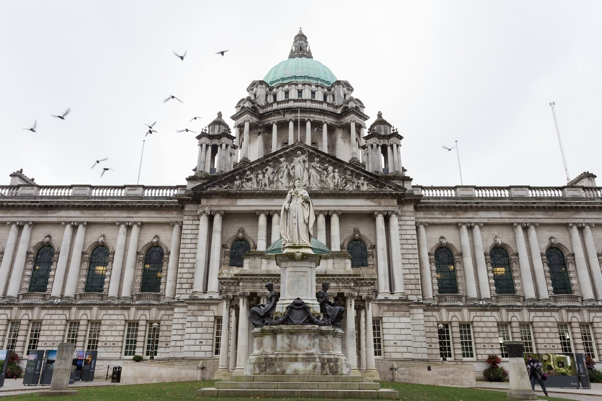 Belfast City Hall facade - northern ireland itinerary