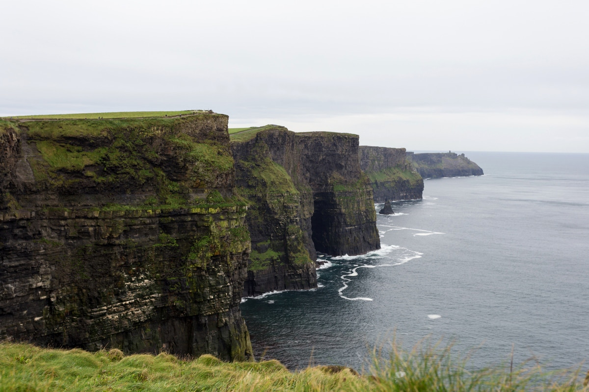 cliffs of moher on a rainy day