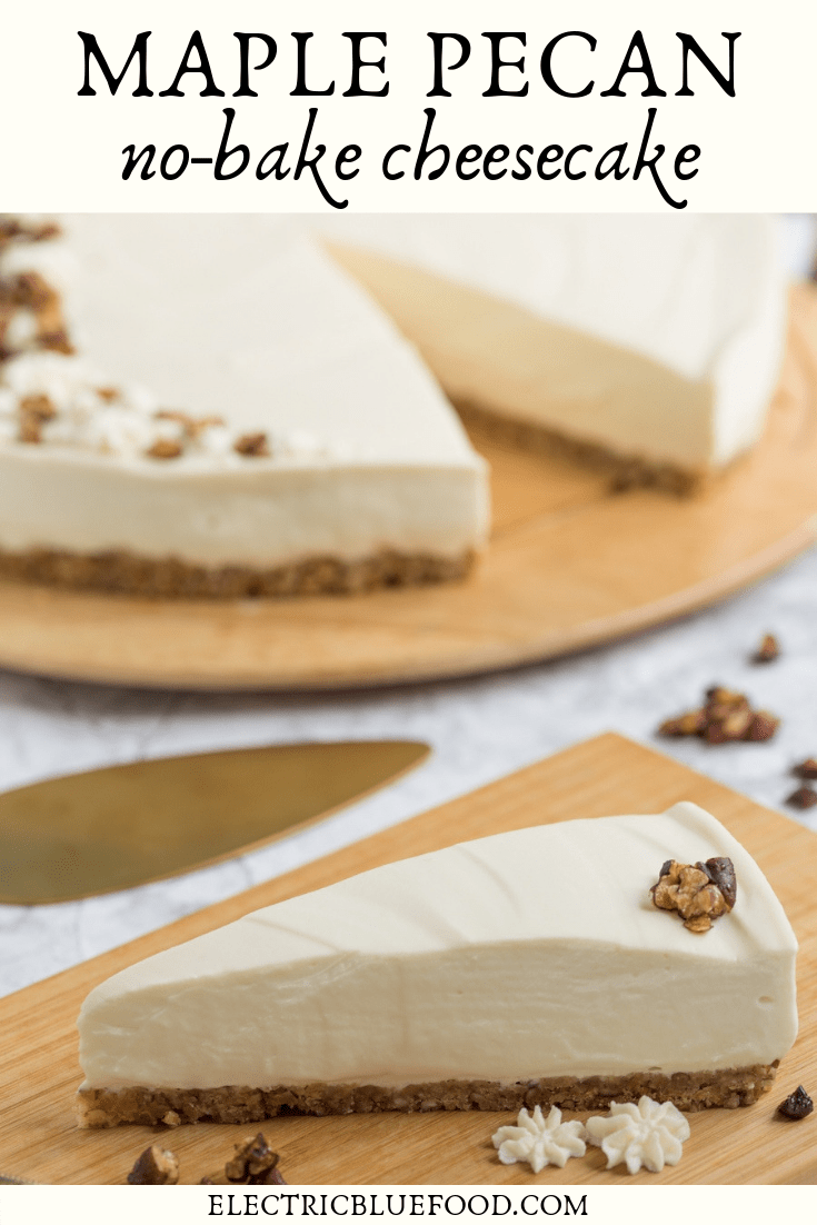 Maple pecan no-bake cheesecake recipe.