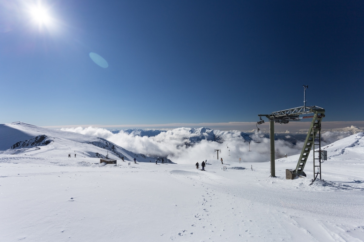 Porters ski area in New Zealand South Island.
