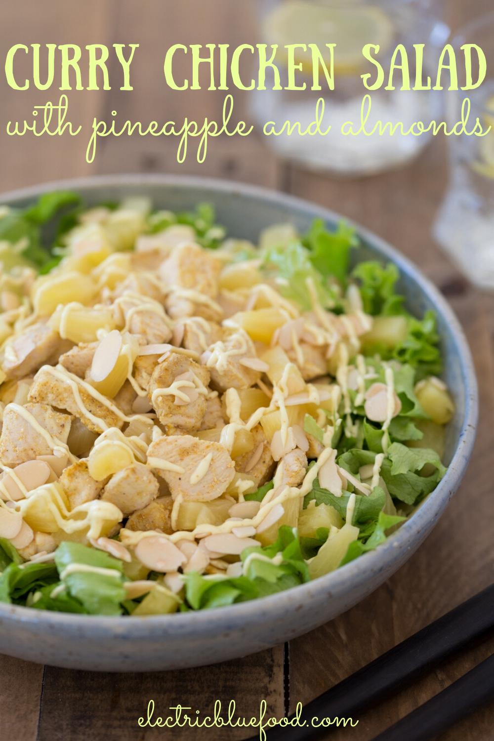 Enjoy summer outside eating with this fantastic chicken pineapple salad with curry mayo. Easily made with just a few ingredients, it will become your favourite summer salad.