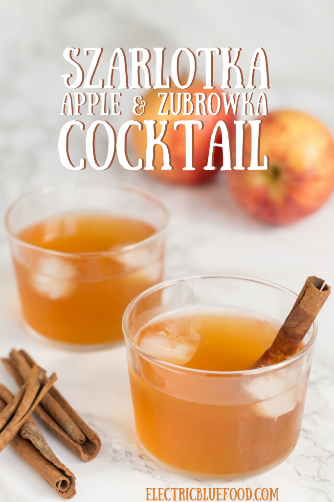 Apple and bison grass vodka give you szarlotka cocktail. A beloved Polish vodka cocktail that takes its name from Polish apple pie. Add a hint of cinnamon for the ultimate szarlotka experience.