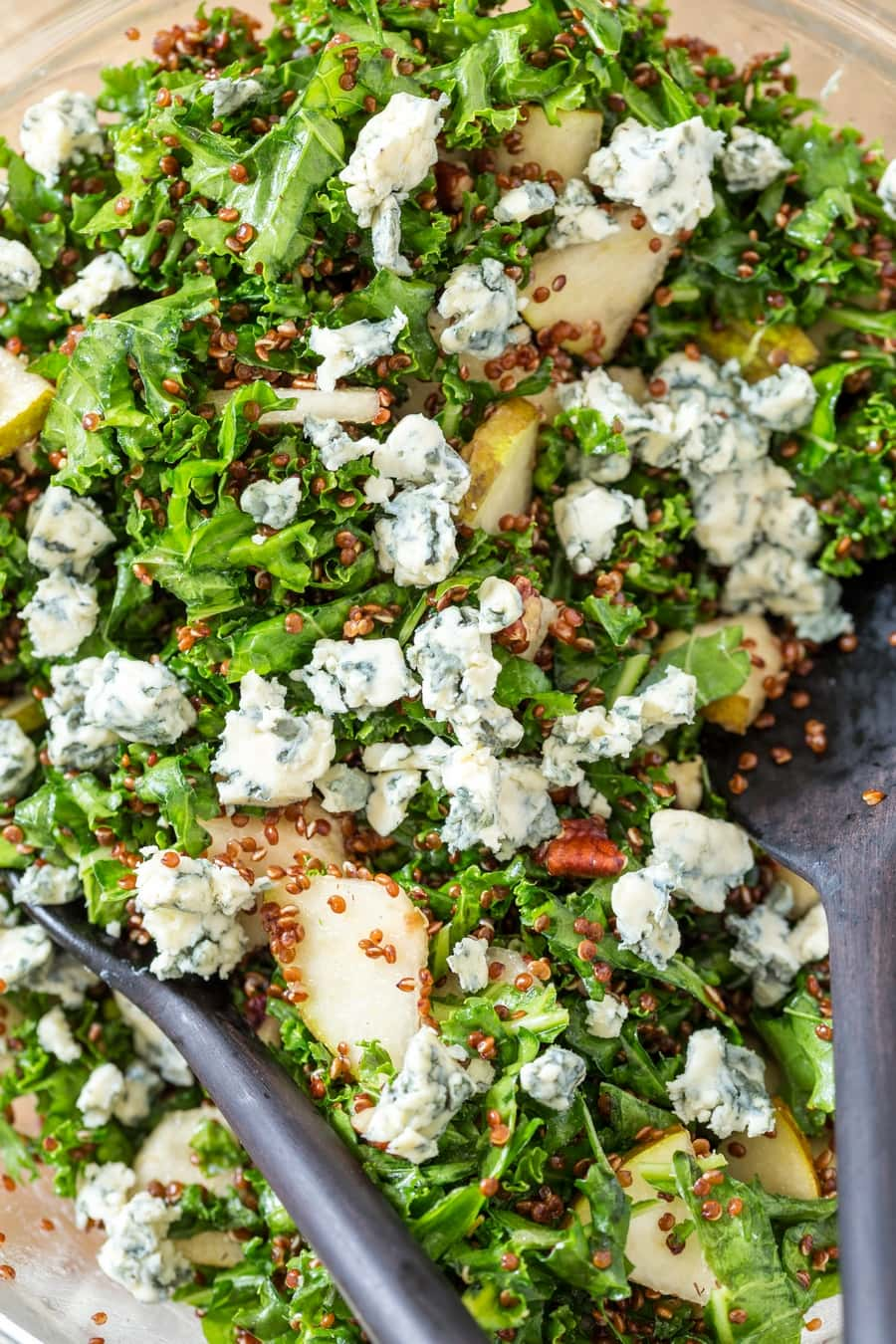 Pear and blue cheese quinoa salad.