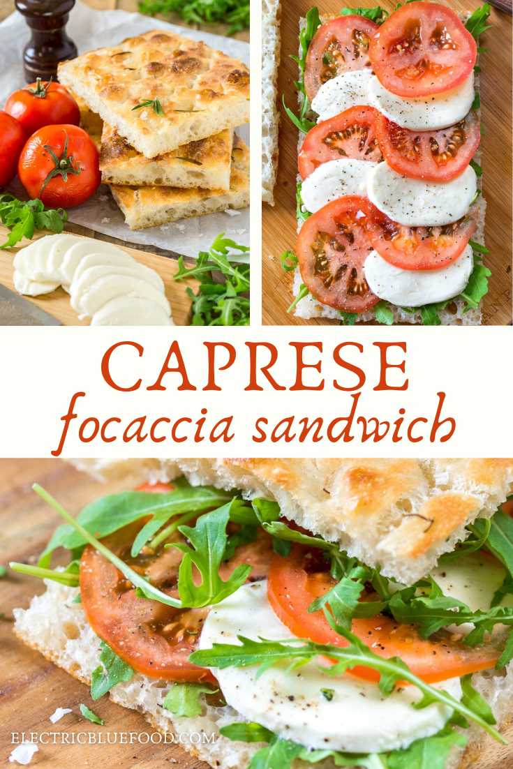 Caprese focaccia sandwich is a delicious tomato mozzarella sandwich made on focaccia bread. Could this be the finest Italian sandwich? Fresh, flavourful, vegetarian and Italian, what's not to love about this caprese sandwich?