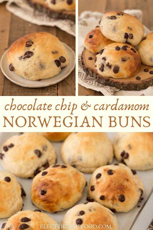 These Norwegian cardamom rolls with chocolate chips are the best thing to get at a gas station during a Norwegian road trip! But don't worry, you can also easily make them at home and enjoy the flavour of cardamom and chocolate chips in these delicious yeast buns from Norway.