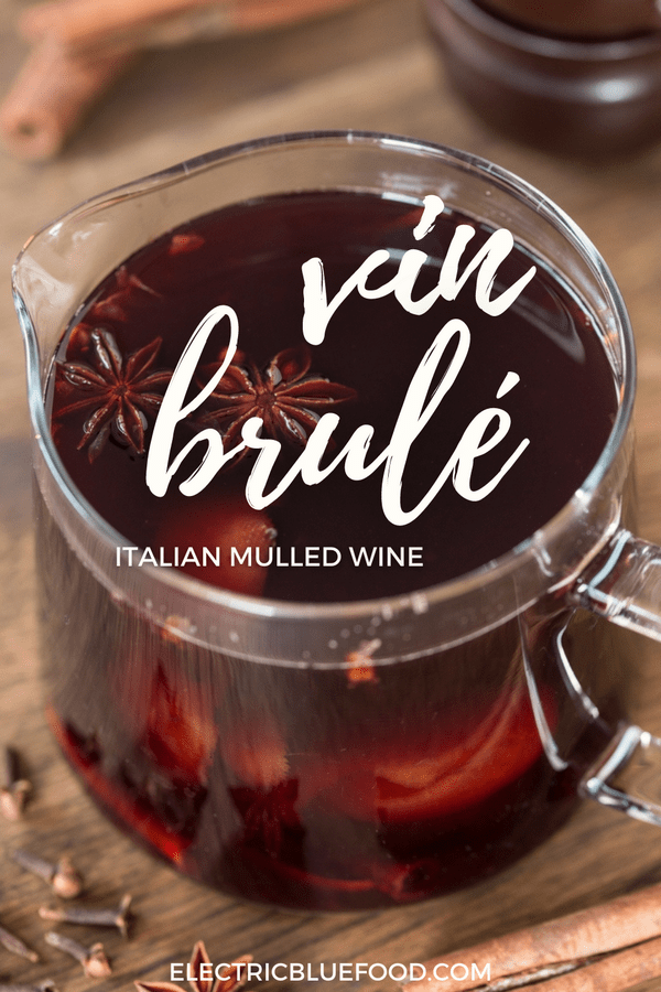 Italian mulled wine vin brulé is a Chrismtas hot drink made with red wine, spices and orange juice. Served hot, it is the classic Christmas market drink, or a pleasant hot beverage to enjoy on a cold winter day.