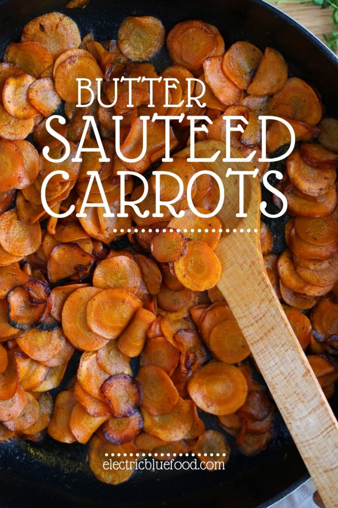 These butter sautéed carrots are the perfect carrot side dish. Thinly sliced and carefully cooked to perfection, they caramelize together with the butter to bring out the most of their natural sweetness with no need for additional sugar.