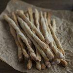 Sourdough breadsticks with lard.