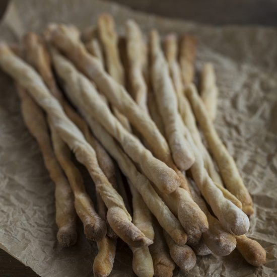 Italian breadsticks with lard.