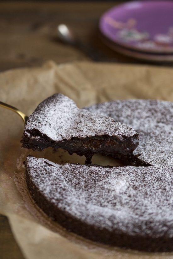 Swedish gooey cake kladdkaka.