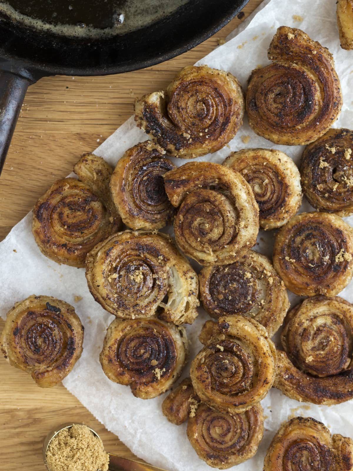 Cinnamon pinwheels made on the stovetop.