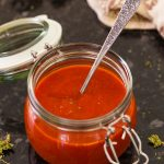 Best pizza sauce in a glass jar.