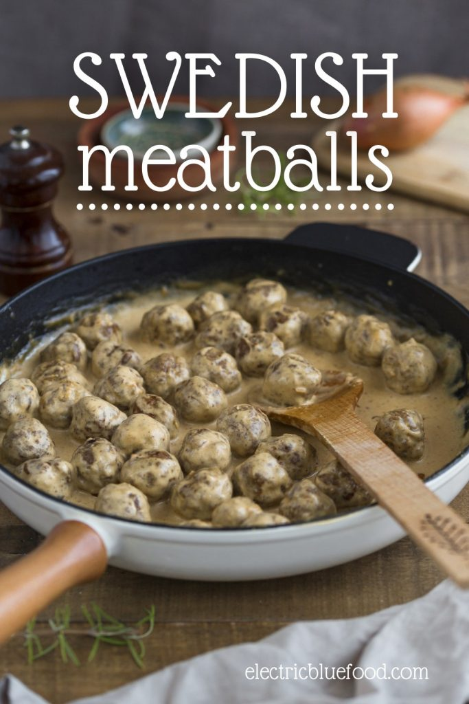 Authentic Swedish meatballs recipe traditionally served with cream sauce. Easy to make with step by step instructions, once you learn how to make Swedish meatballs you will never buy frozen again. Plus they freeze great themselves! This is the best recipe for firm meatballs.