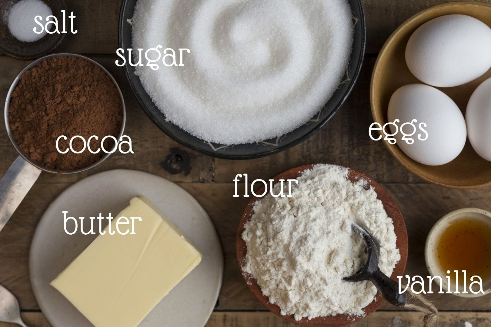 ingredients needed to make kladdkaka.