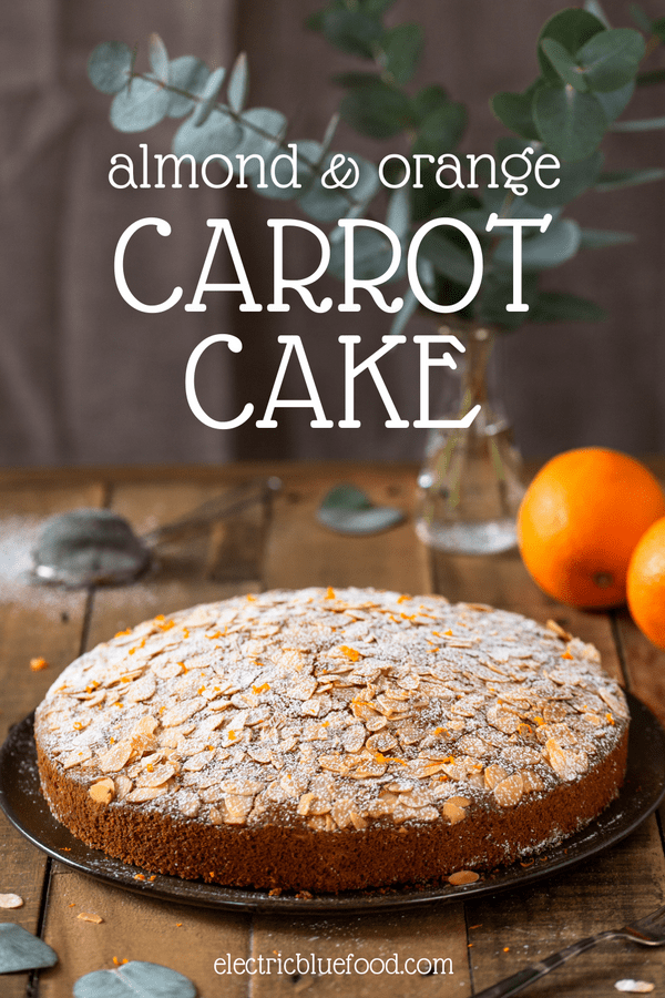 Almond carrot cake with orange inspired by Camilla cake, an Italian carrot cake with almond meal. This cake is soft and moist and has a lovely flavour combination. Perfect for breakfast with a cup of black tea.