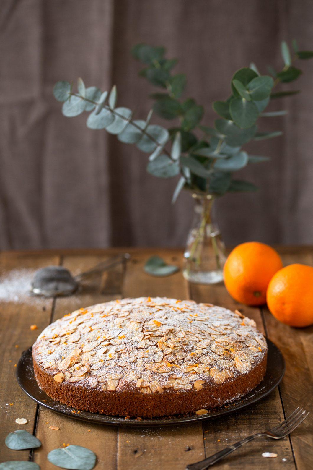 Almond orange carrot cake.