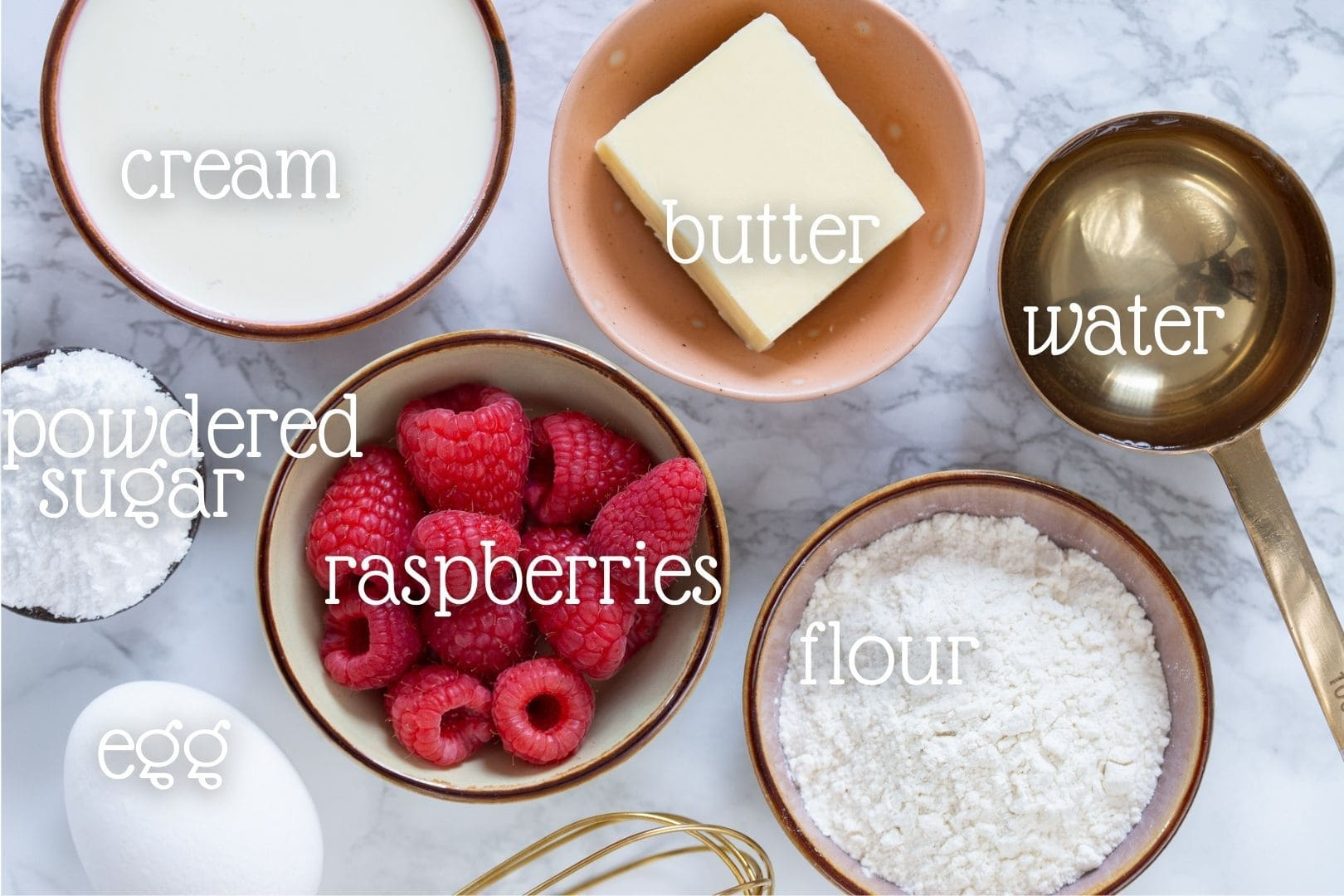 Overhead view of the ingredients needed in this recipe.