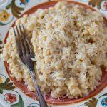 Prosecco risotto with parmesan.