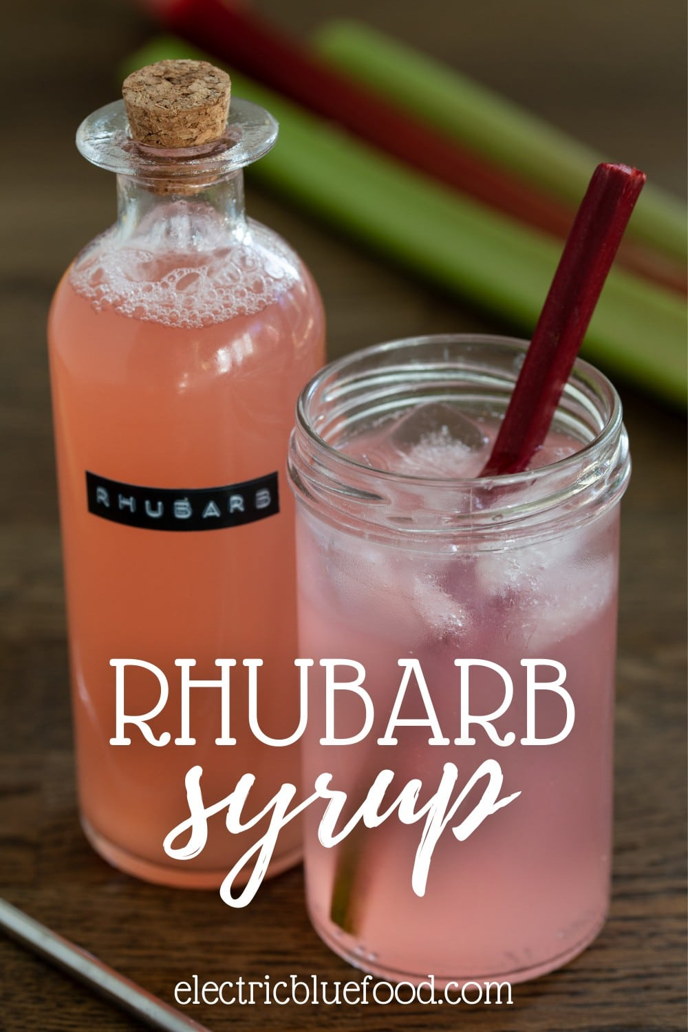 Simple rhubarb syrup recipe to use on dessert or as a cocktail ingredient.
