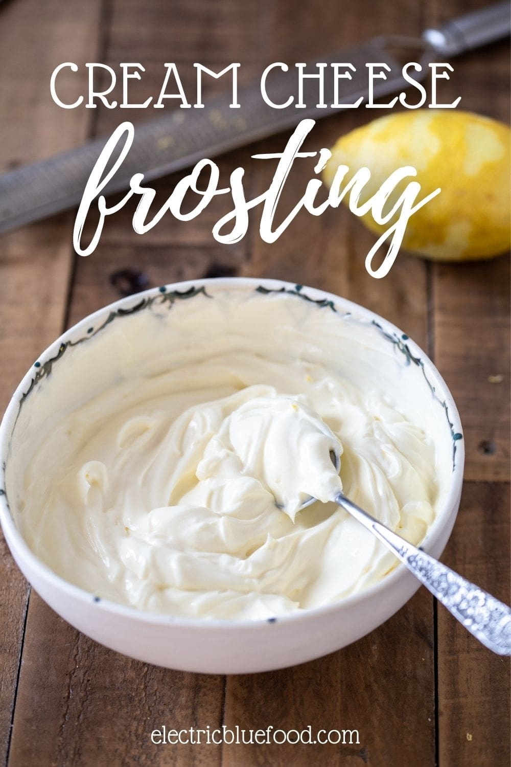 This cream cheese frosting with lemon zest is perfect to spread over a cake or pipe on cupcakes. The slight tang from the zest complements the sweet and sour quality of the sugar and cream cheese for a great flavour.