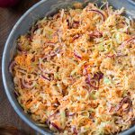 Best coleslaw made with sweet pickled veggies.