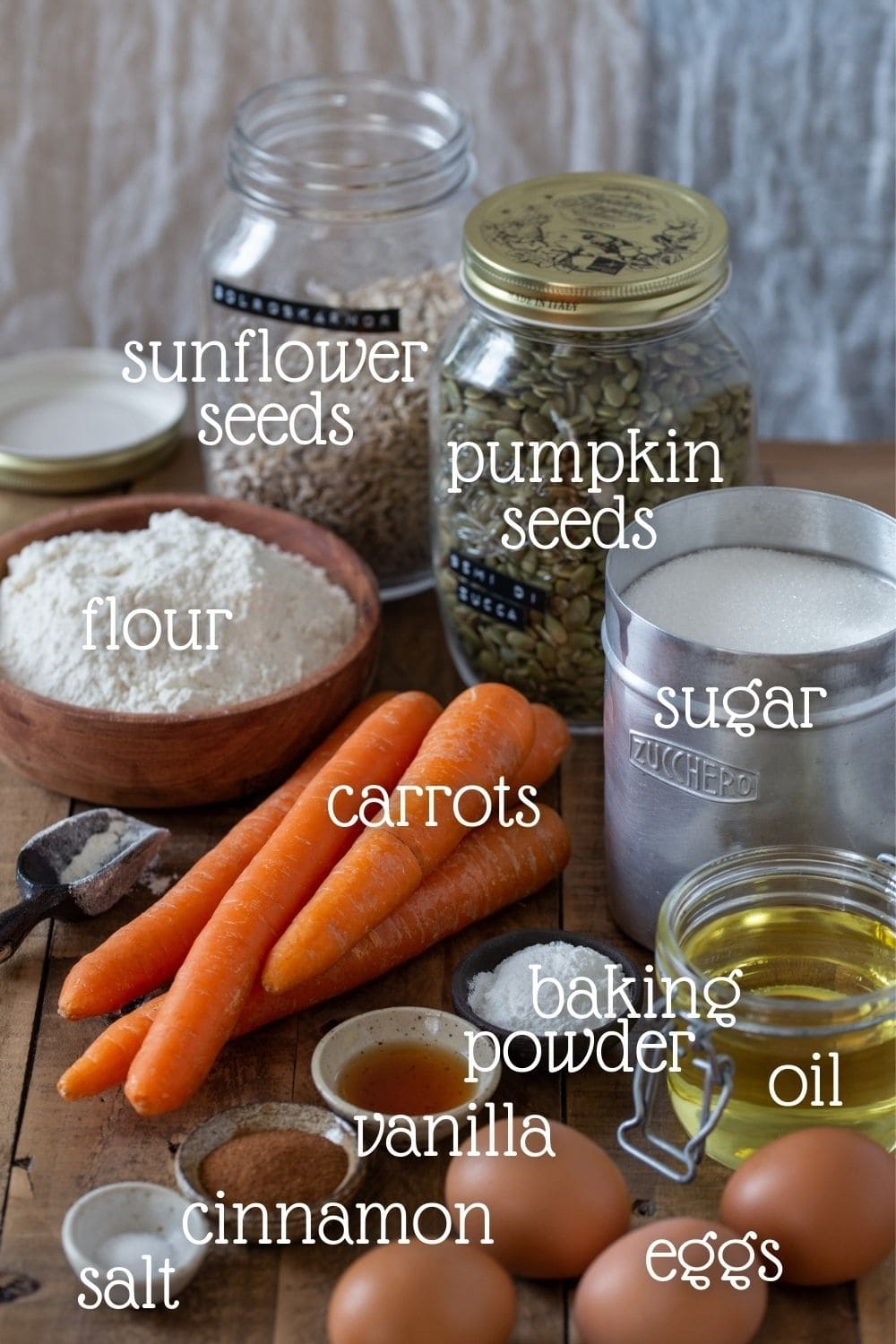 All the ingredients needed for the recipe.